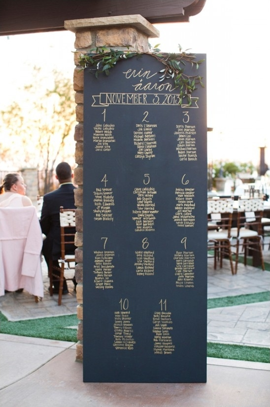 door sized chalkboard seating assignment board