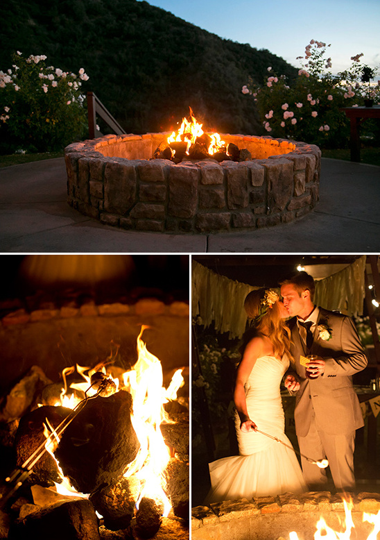 fire pit wedding smores