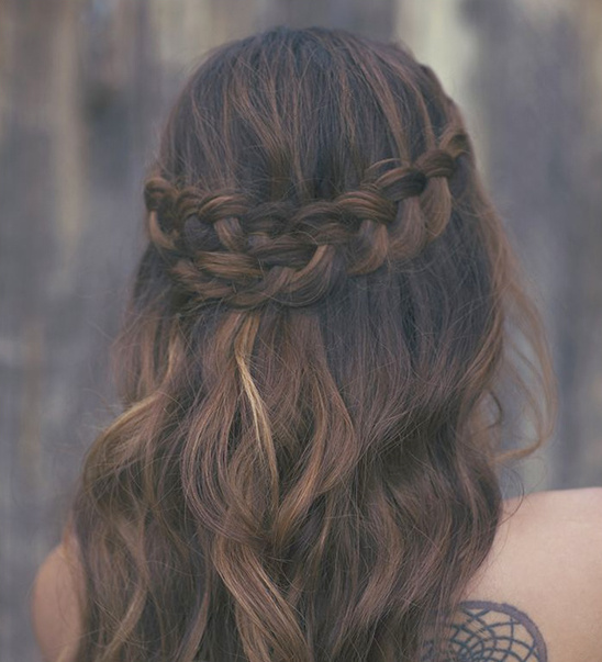 whimsical wedding braids