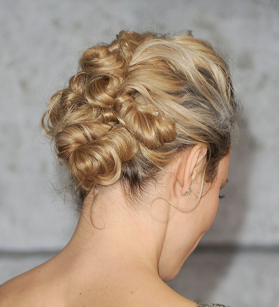 effortless wedding updo