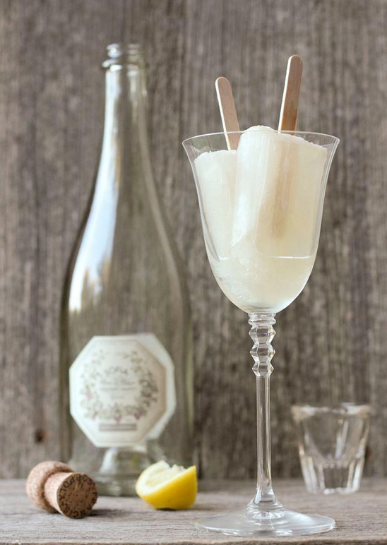 champagne popsicle signature wedding cocktail