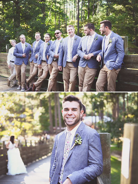 tweed and khaki groomsmen