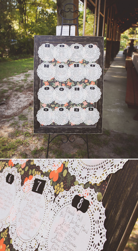 doily escort card