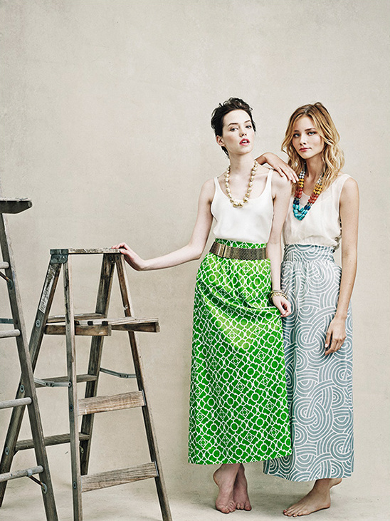 mix and match long skirts for a chic bridesmaid look