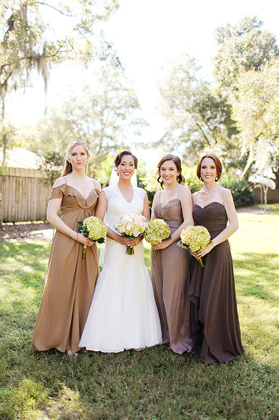 brown ombre bridesmaid dresses