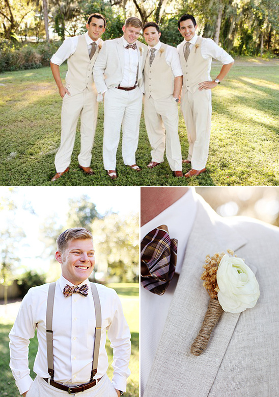 cream groomsmen look