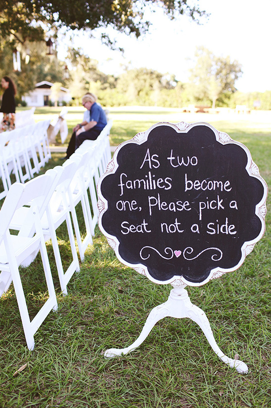 pick a seat not a side chalkboard