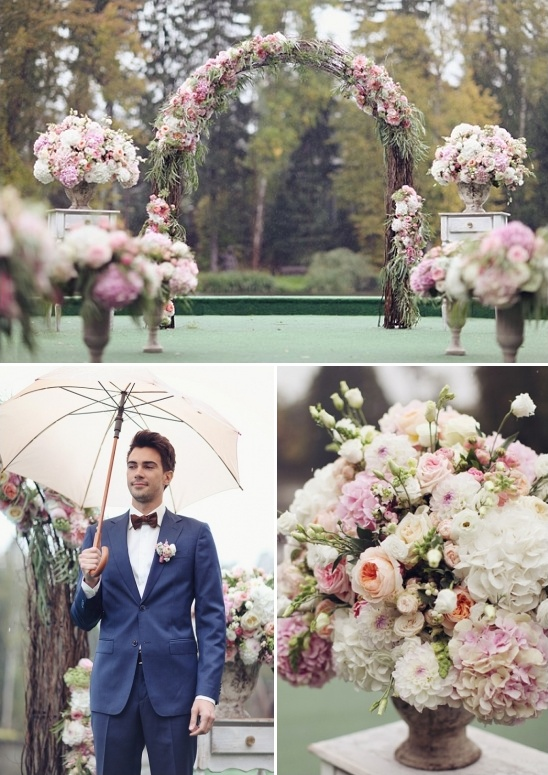 wedding ceremony rain