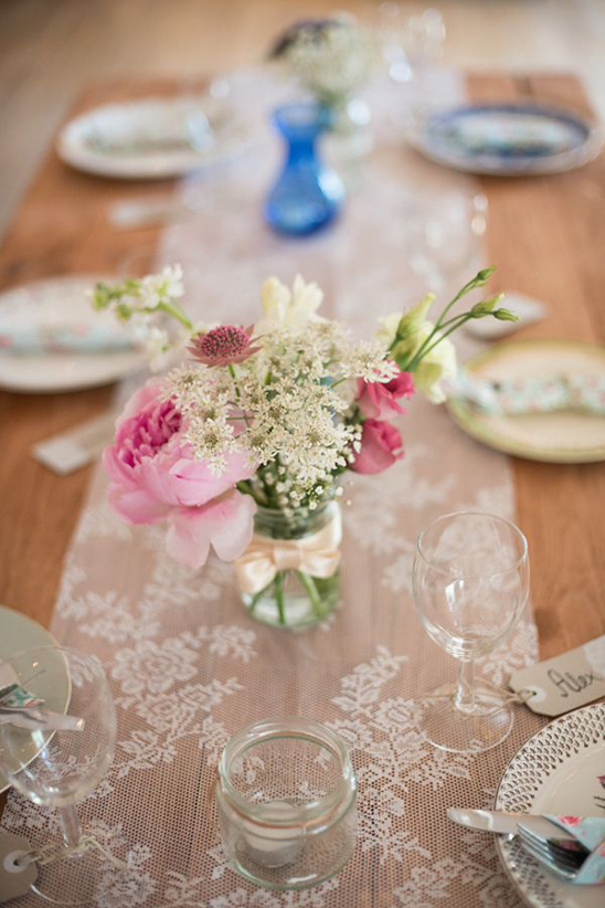 diy pink and white floral centerpieces