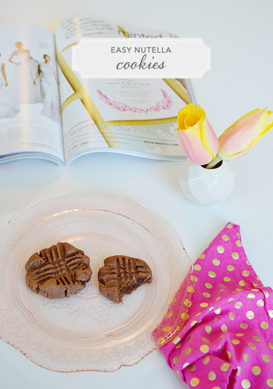 easy nutella cookie recipe