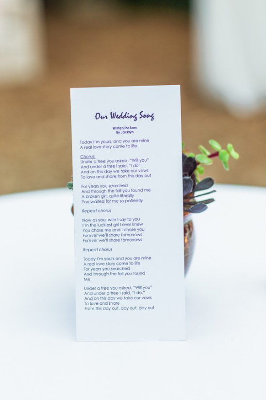 wedding song written by the bride