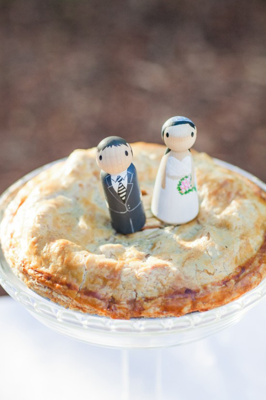 wooden figurine pie toppers
