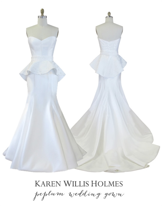 Karen Willis Holmes Peplum Wedding Gown
