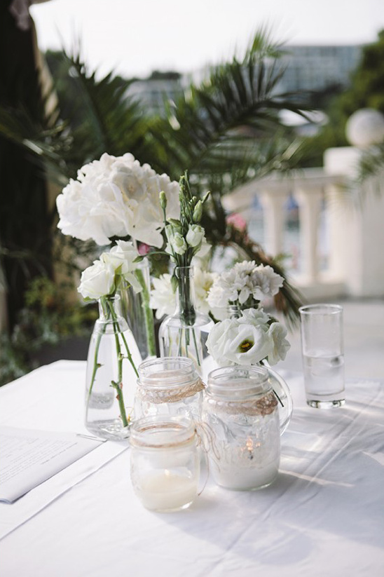 wedding ceremony table decor