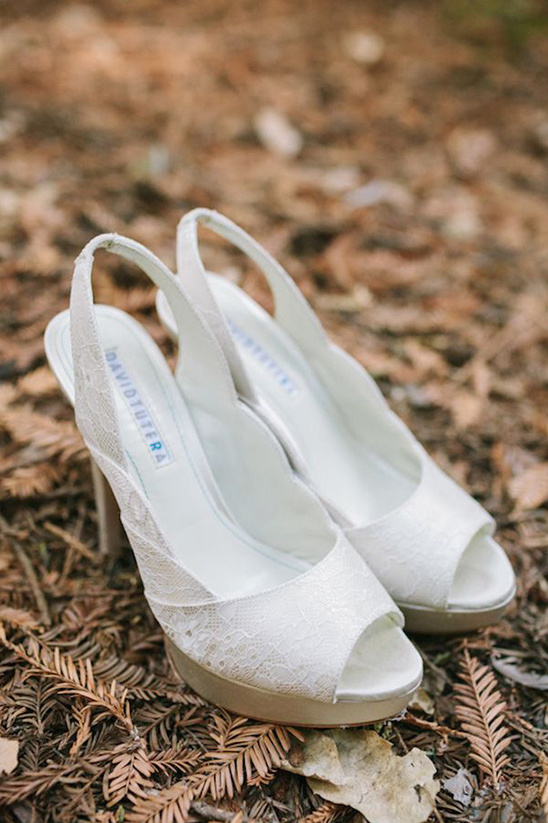 david tutera white lace wedding shoes