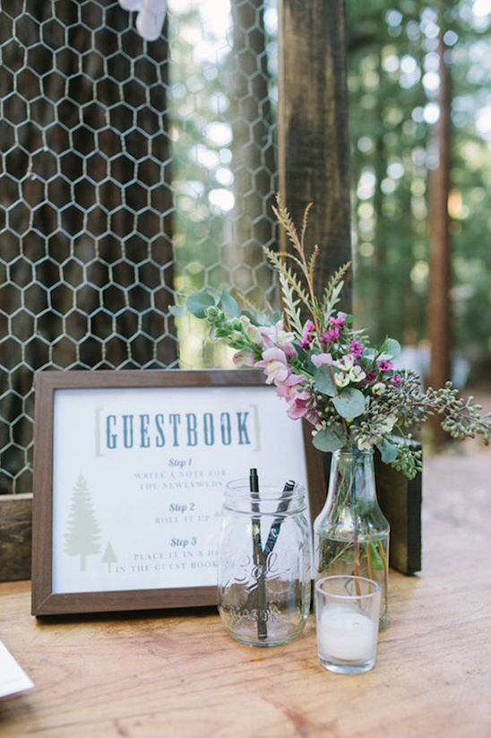 chicken wire guestbook ideas