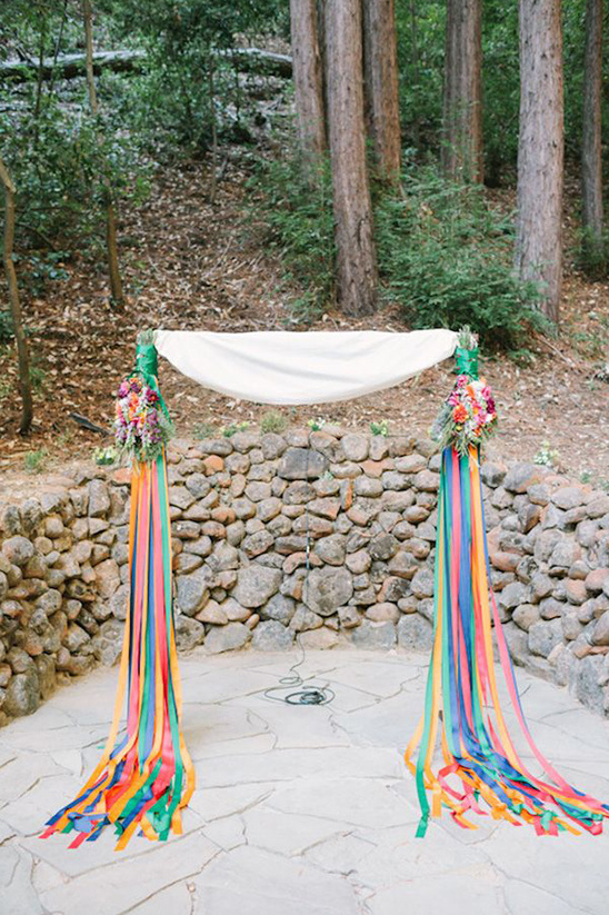 colorful ribbon ceremony backdrop
