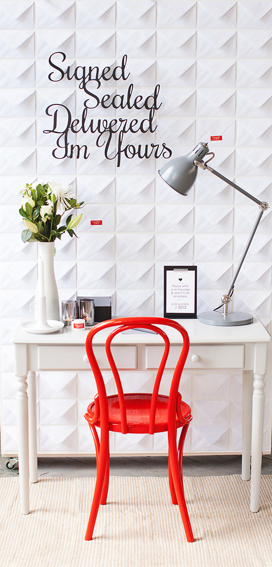 Love Note Envelope Wall DIY