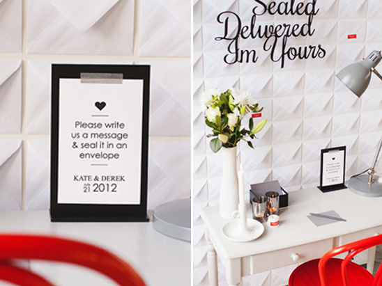 love note wedding station