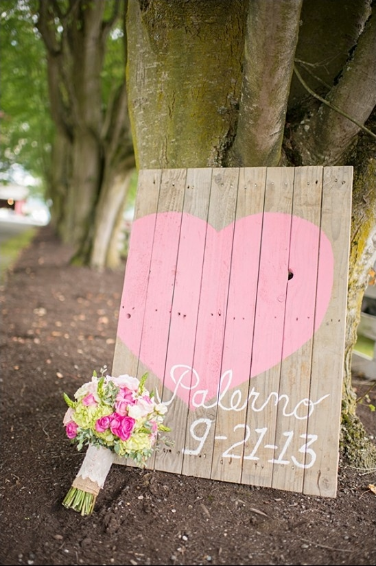 reclaimed wood wedding sign