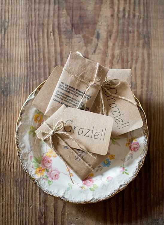 grazie wedding favor seed packs