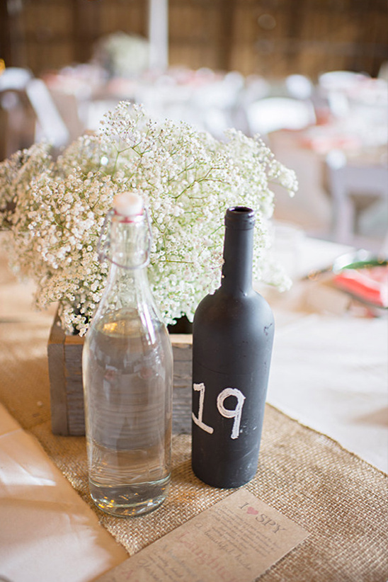 chalkboard paint table numbers