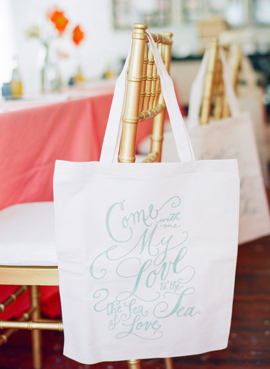 come with me calligraphy tote bag