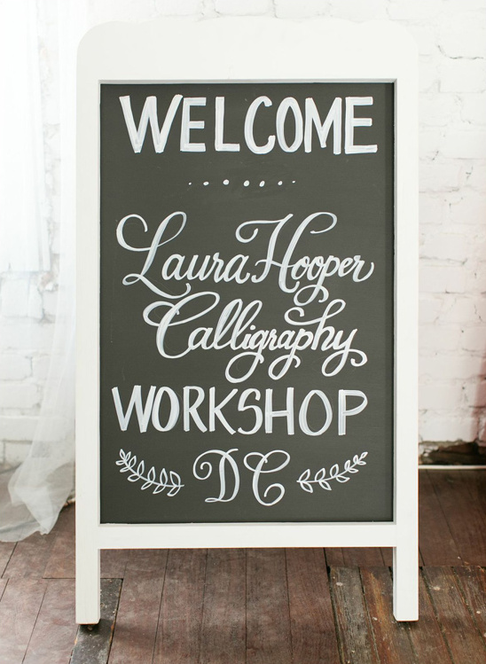 workshop welcome sign