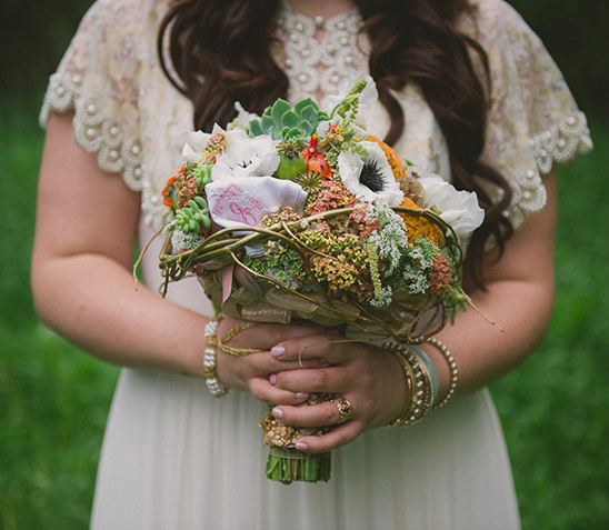 eclectic wedding bouquet