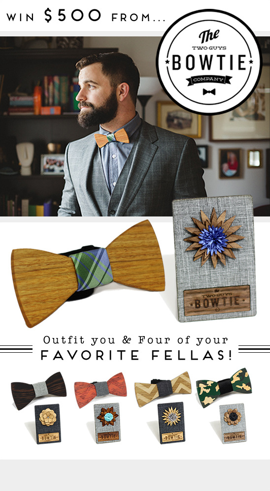 two guys bowtie give away