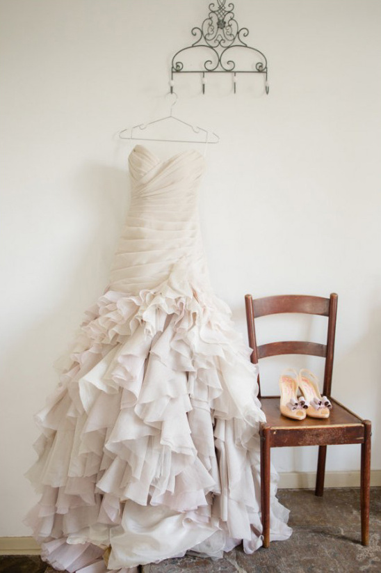 F. Wilson ruffled wedding gown