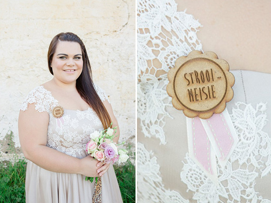 bridesmaid wooden ribbon