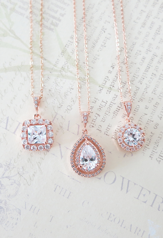 Rose Gold + Ruby Wedding Jewellery