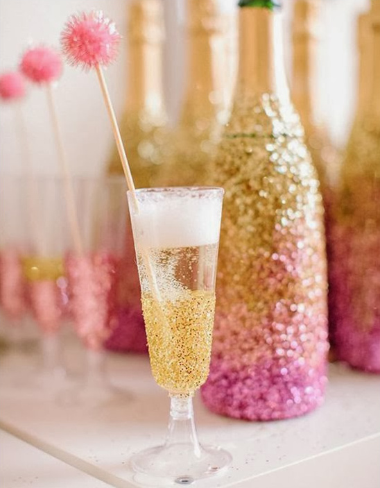 Glittery champagne cocktails