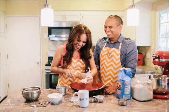 Cooking Engagement Photography