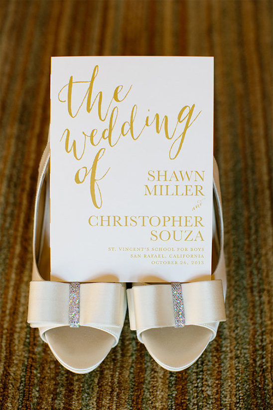 elegant gold wedding invite