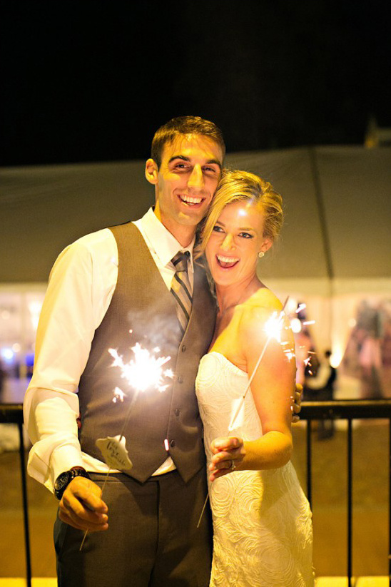 light the night with sparklers