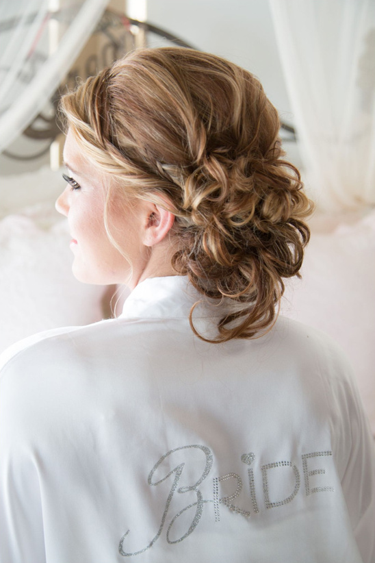glamorous wedding hair