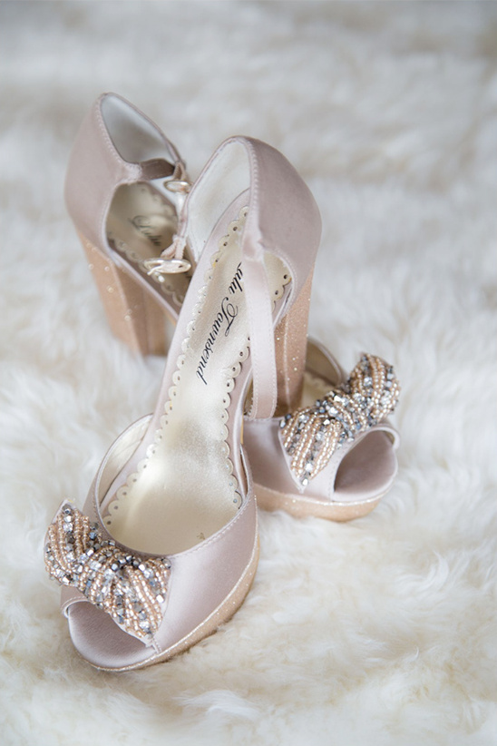 fancy pink wedding shoes