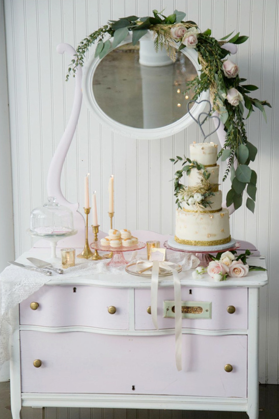 dessert table on a dresser