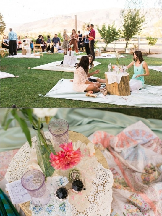 picnic style reception