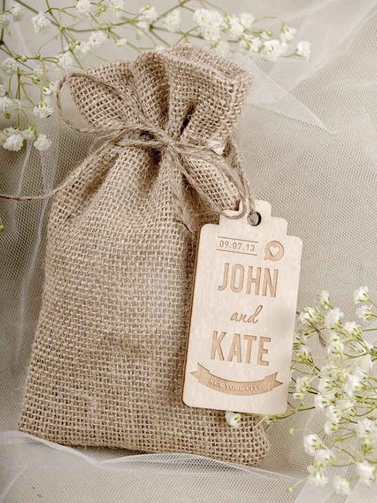 custom burlap wedding favor bags