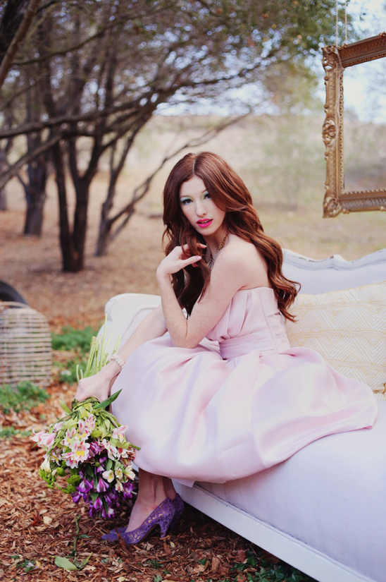 pink strapless dress from Enzoani