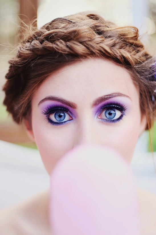 bright purple makeup