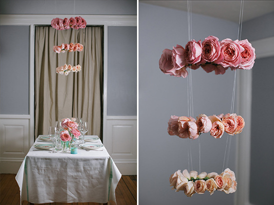 how to create this cute rose halo chandelier
