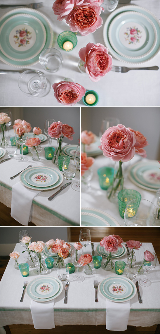 rose tablescape