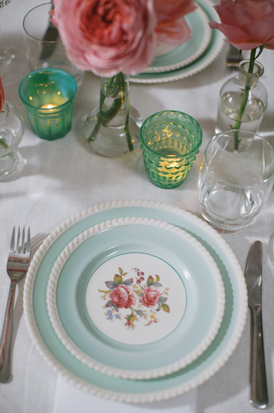 rose patterned china