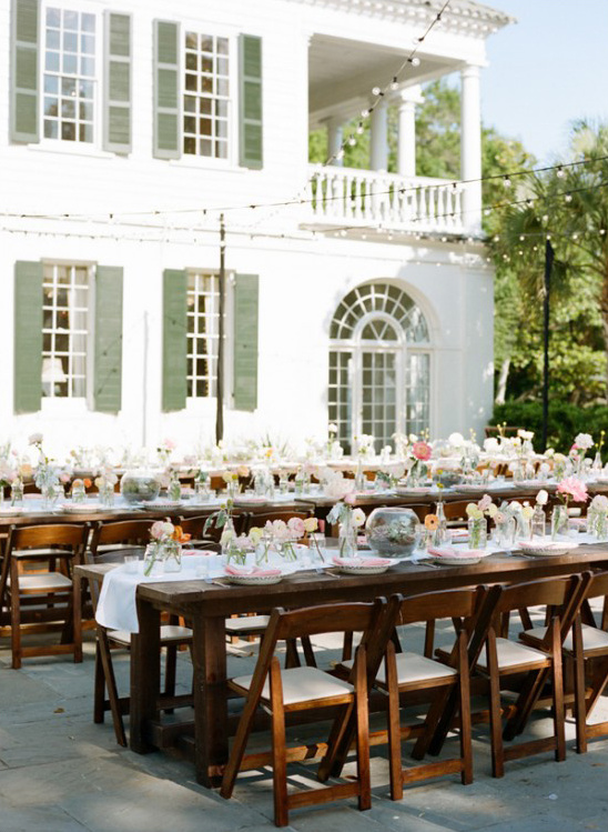 wedding reception at Lowndes Grove Plantation