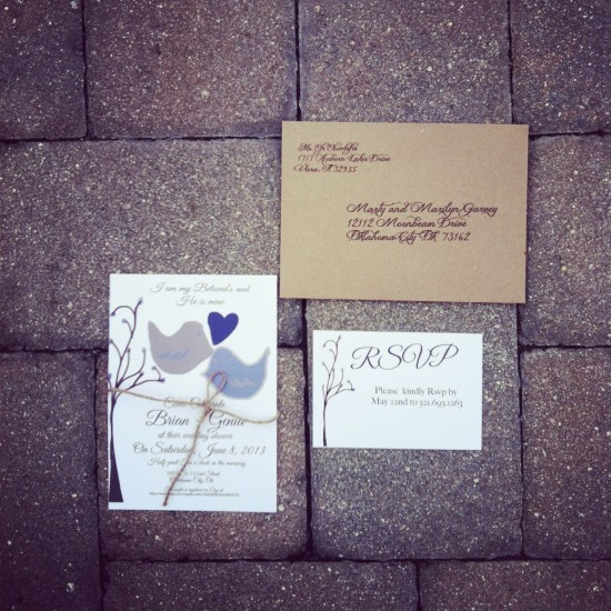 My Beloved Wedding invitations