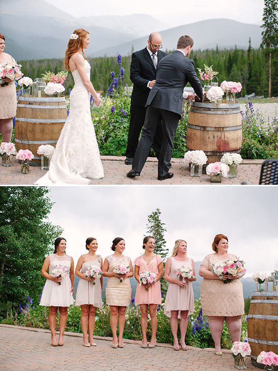 wine barrels and floral backdrop